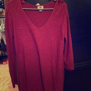 Tunic sweater.